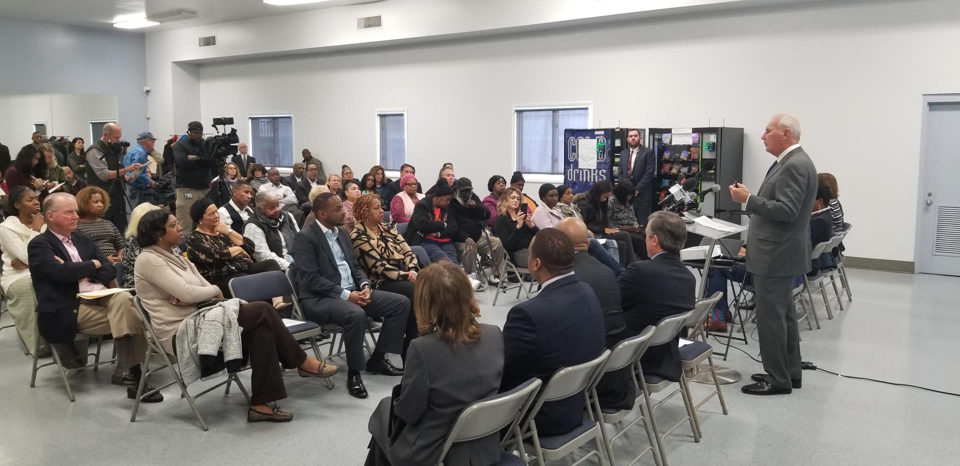 Mayor Purzycki announces that the Riverside neighborhood in Wilmington's Northeast section has been named as the 19th Purpose Built Community in the U.S.